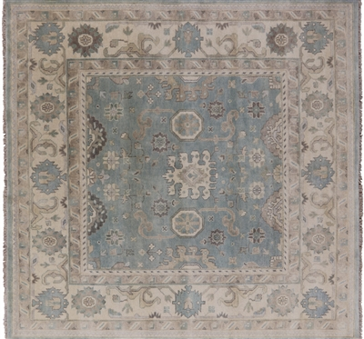 Oushak Hand Knotted Wool Area Rug