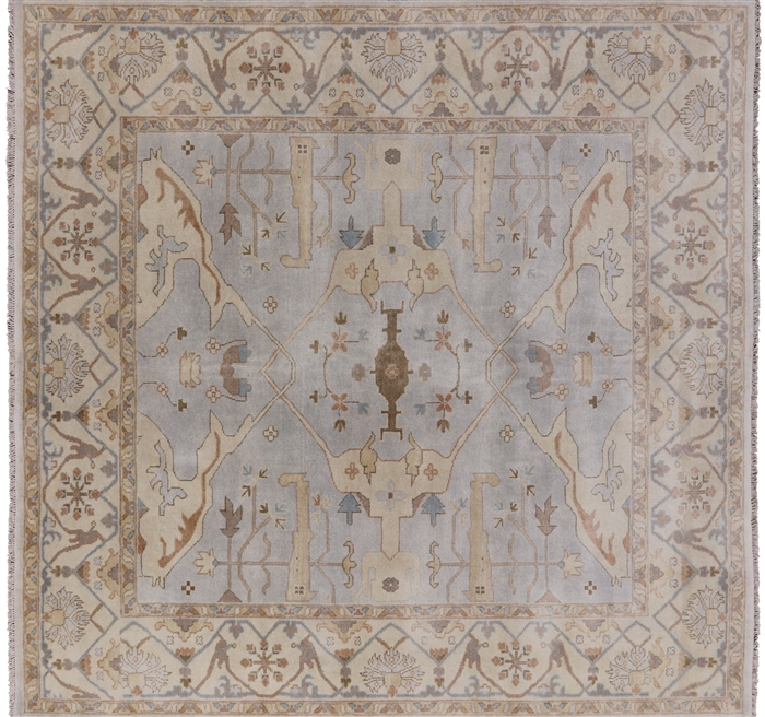 Square Traditional Oushak Oriental Hand Knotted Area Rug