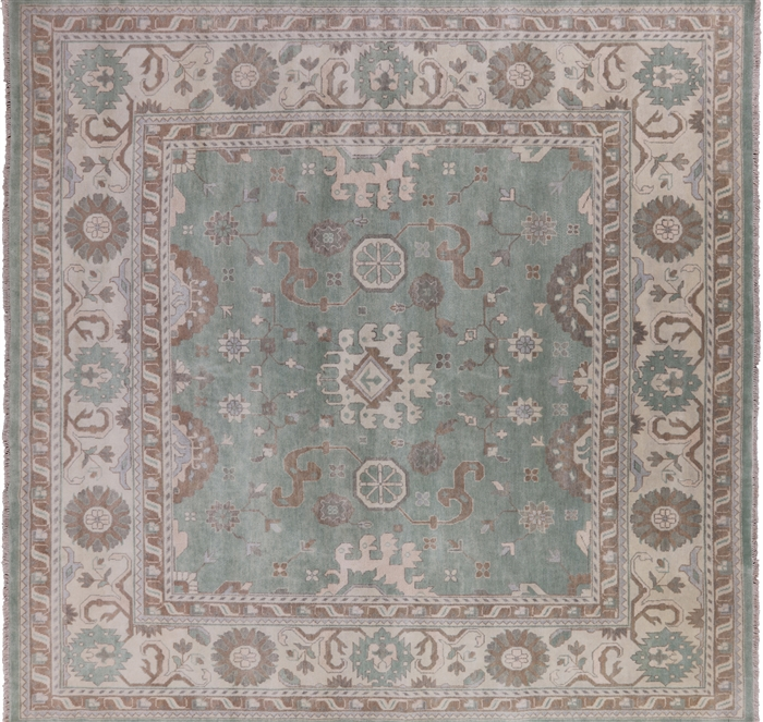 Oushak Oriental Hand Knotted Square Area Rug