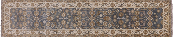 Oriental Hand Knotted Wool Oushak Runner Rug