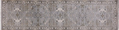 Runner Oushak Hand Knotted Wool Rug