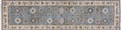 Oushak Hand Knotted Wool Runner Rug