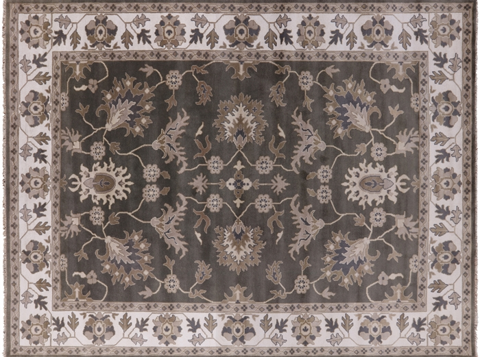 Hand Knotted Oriental Oushak Wool Area Rug