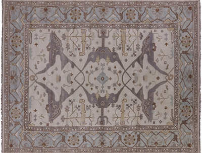 Hand Knotted Wool Oushak Area Rug
