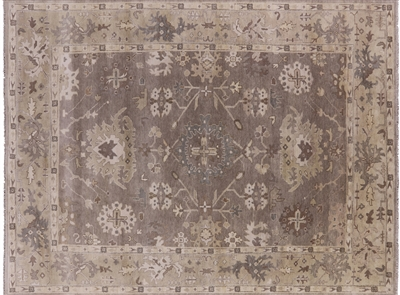 Hand Knotted Oushak Oriental Wool Area Rug