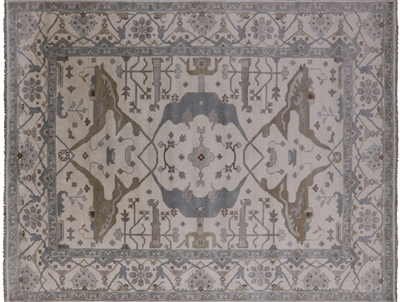 Traditional Oushak Wool Rug
