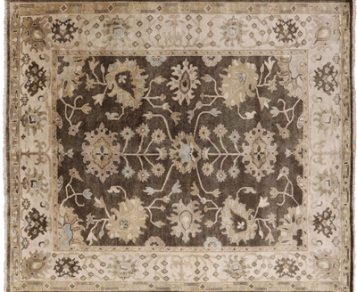 Oriental Hand Knotted Wool Oushak Area Rug