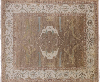 Hand Knotted Oriental Wool Oushak Rug