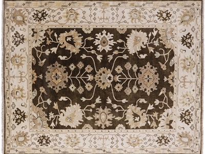 Oushak Hand Knotted Oriental Wool Area Rug