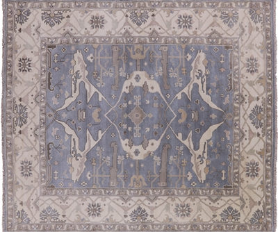 Wool Hand Knotted Oushak Area Rug