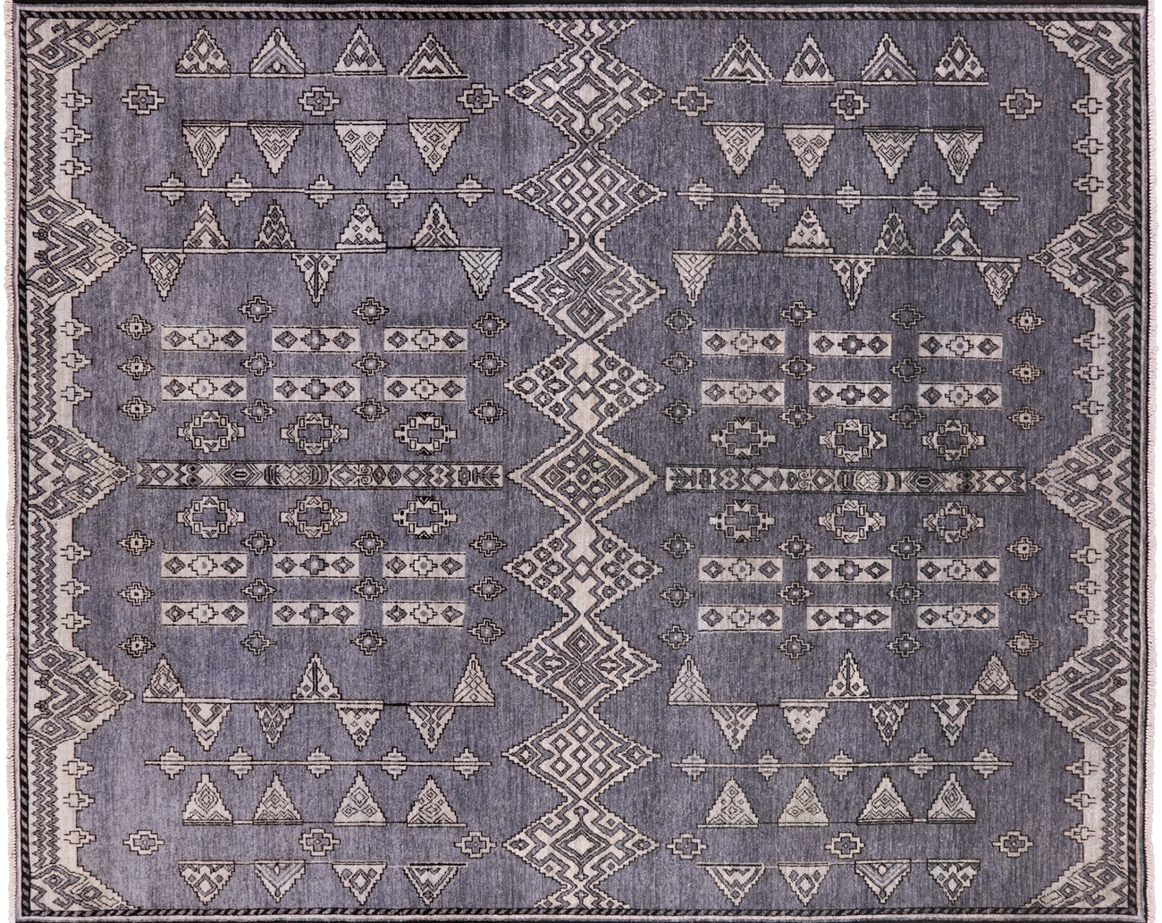 Southwest Navajo Hand Knotted Wool Area Rug 8 X 10
