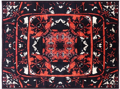 Hand Knotted Wool Arts & Crafts Rug