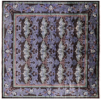 Square William Morris Wool Oriental Area Rug