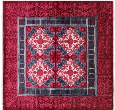 Square Hand Knotted William Morris Rug