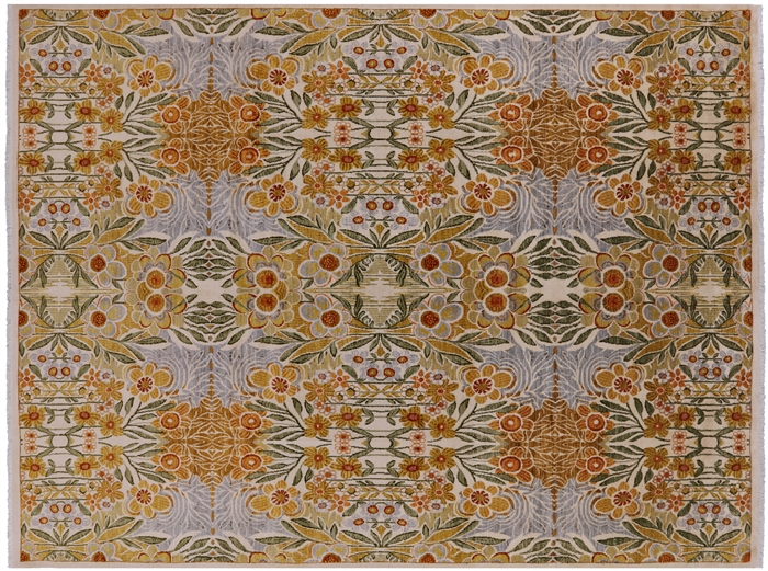 Hand Knotted Wool Oriental William Morris Rug