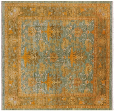Square William Morris Handmade Rug