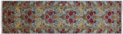 William Morris Hand Knotted Runner Rug