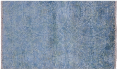 Hand Knotted Overdyed Full Pile Wool Area Rug