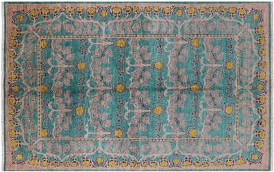 Oriental Hand Knotted Wool William Morris Area Rug
