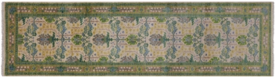 Runner Hand Knotted Wool William Morris Rug