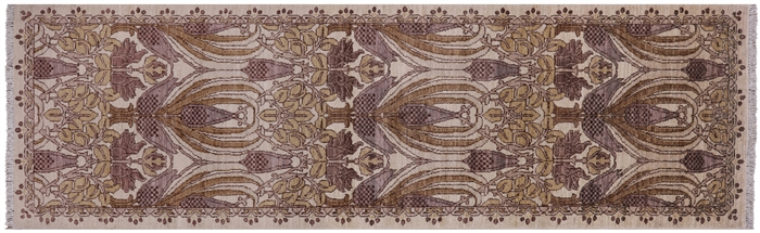 Hand Knotted William Morris Runner Rug