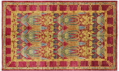 Hand Knotted Wool William Morris Area Rug