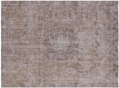 White Wash Hand Knotted Persian Vintage Rug