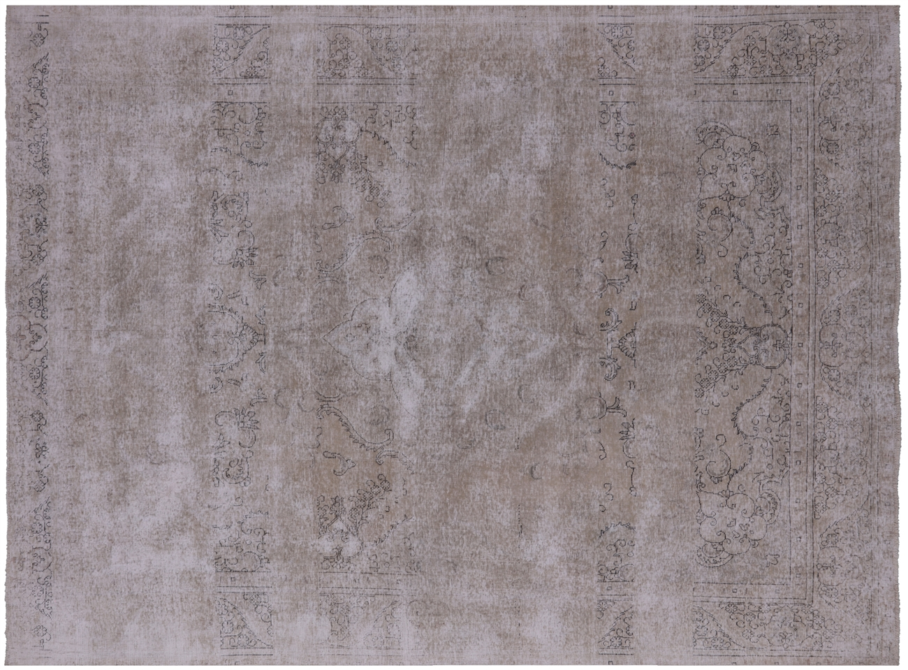 Wash Persian Vintage Hand Knotted Wool Rug