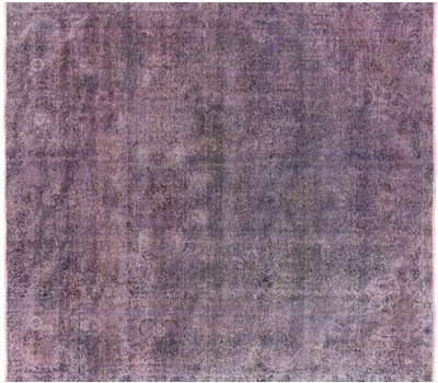 Square Persian Overdyed Hand Knotted Rug