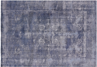 Overdyed Hand Knotted Wool Rug
