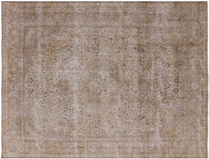 Hand Knotted Wool Persian Vintage White Wash Area Rug