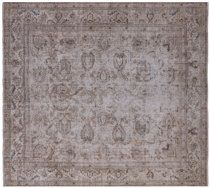 Persian Vintage Hand Knotted White Wash Area Rug