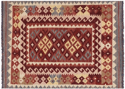 Wool on Wool Flat Weave Reversible Kilim Rug