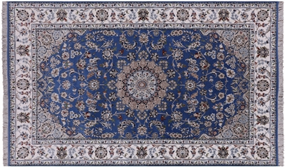 Persian Nain Wool & Silk Rug