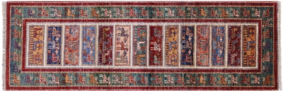 Lori Buft Runner Super Gabbeh Hand Knotted Wool Rug