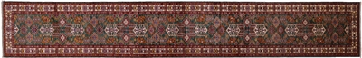Runner Super Kazak Hand Knotted Wool Rug