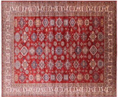 Hand Knotted Wool Super Kazak Area Rug
