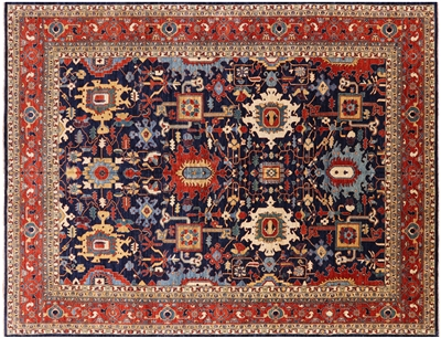 Hand Knotted Persian Fine Serapi Wool Area Rug