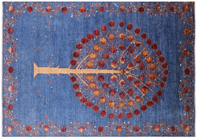 Super Gabbeh Pomegranate Tree Hand Knotted Wool Area Rug