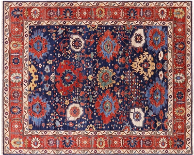 Persian Fine Serapi Hand Knotted Wool Area Rug