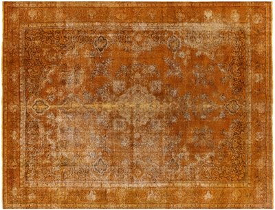 Gold Persian Overdyed Wool Rug