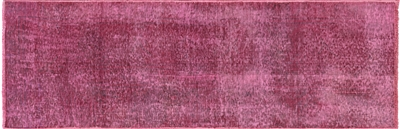 Hand Knotted Overdyed Runner Rug