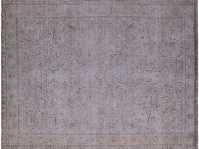 Persian Vintage White Wash Hand Knotted Rug