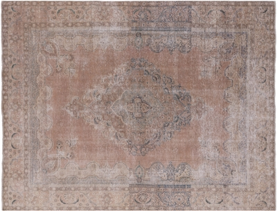 Hand Knotted Wool Persian Vintage White Wash Rug