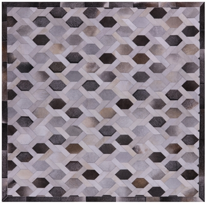 Natural Cowhide Hand Stitched Rug
