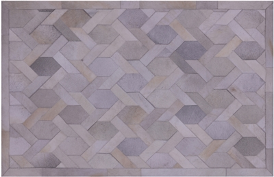 Patchwork Cowhide Hand Stitched Area Rug