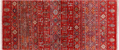 Runner Tribal Persian Gabbeh Handmade Wool Rug