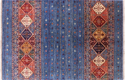 Hand Knotted Wool Tribal Persian Gabbeh Area Rug
