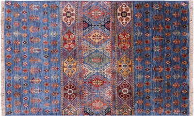 Hand Knotted Wool Tribal Persian Gabbeh Rug