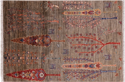 Tribal Persian Gabbeh Wool Area Rug